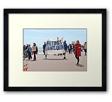 Austerity march, Hastings Framed Print
