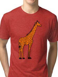 Smiling Giraffe Tri-blend T-Shirt