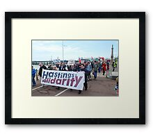 Hastings austerity march Framed Print