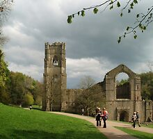 At Fountains Abbey by WatscapePhoto