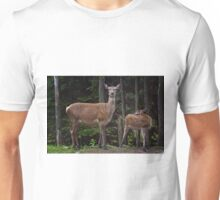 Red Deer Doe And Fawn T-Shirt