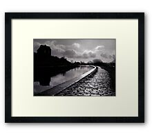 the house on the hill.. Framed Print