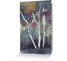 The dark forest  Greeting Card