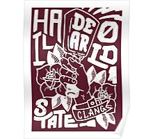 Hail State! - Maroon and White Poster