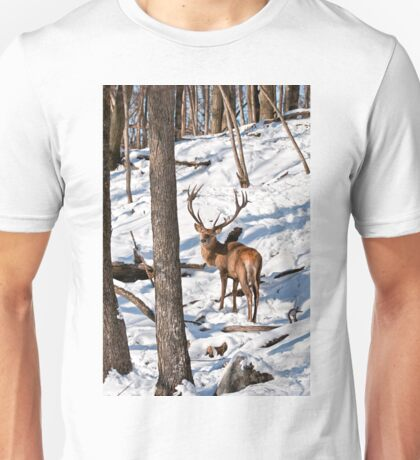 Red Deer in Forest Unisex T-Shirt