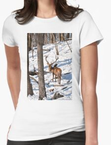 Red Deer in Forest Womens Fitted T-Shirt
