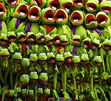 Kermit in Sideshow Alley by Distan