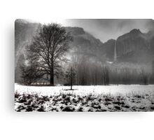 Foggy Yosemite Winter Canvas Print
