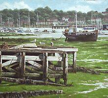 Southampton Northam river Itchen mudflats by martyee