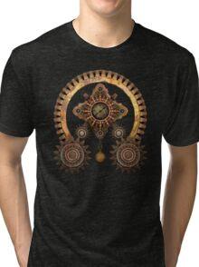 Steampunk Machine T-Shirts and Stickers Tri-blend T-Shirt