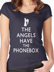The Angels have the Phonebox - Keep Calm Spoof Women's Fitted Scoop T-Shirt