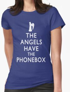 The Angels have the Phonebox - Keep Calm Spoof Womens Fitted T-Shirt