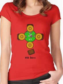 Mexican hats all in poker night Women's Fitted Scoop T-Shirt