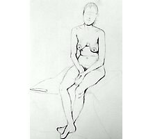 Nude Woman Sitting  Photographic Print