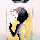 Woman in a Bottle - Nude by Victoria limerick