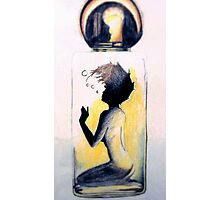 Woman in a Bottle - Nude Photographic Print