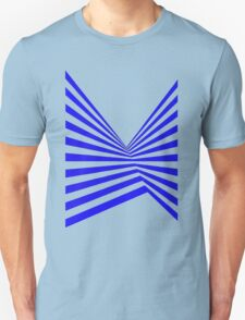 Blue Abstract Stripes T-Shirt