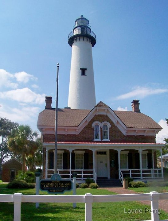 St. Simon Lighthouse by Laurie Perry