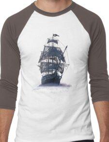 Ghost Pirate Ship at Night Men's Baseball ¾ T-Shirt