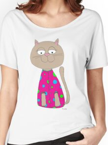 Cat in Jammy Jam's :) Women's Relaxed Fit T-Shirt