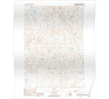 USGS Topo Map Oregon Tub Mountain 281882 1988 24000 Poster