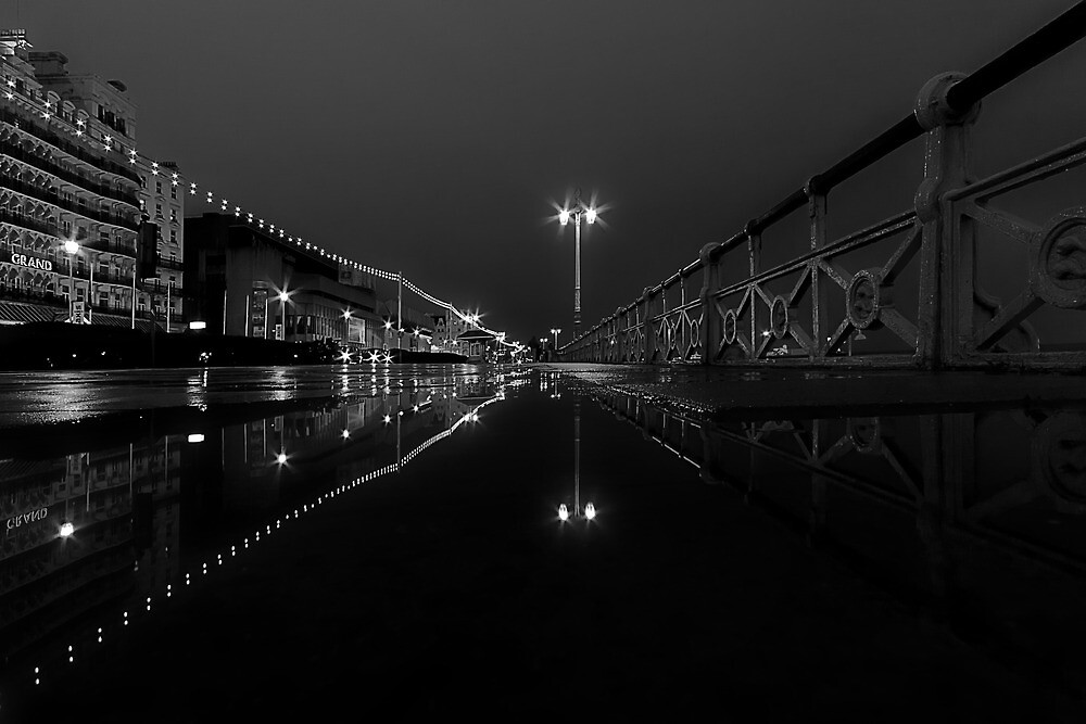 A Street At Night by Leon Ritchie