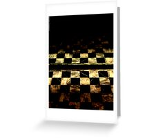 Checkered Darkness Greeting Card