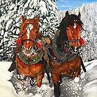 Horse Play by ManemannArt