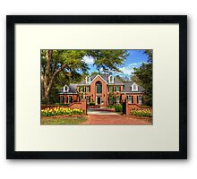 Beautiful house in SC Framed Print