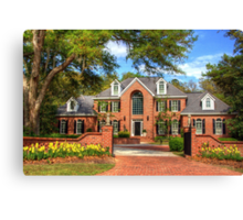 Beautiful house in SC Canvas Print