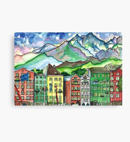 Cloudy Day in Innsbruck Canvas Print