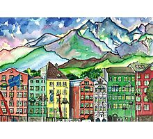 Cloudy Day in Innsbruck Photographic Print