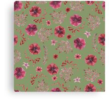 flowers watercolor  Canvas Print