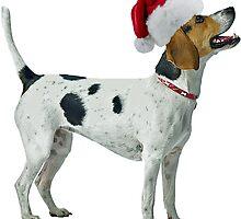 American Foxhound Christmas by CafePretzel