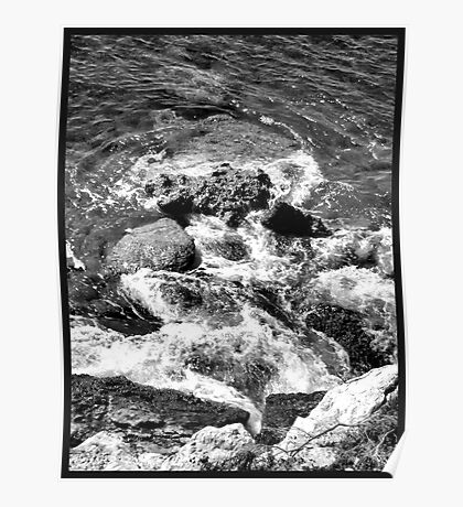Rocks & Sea Poster