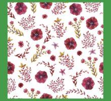flowers watercolor One Piece - Short Sleeve