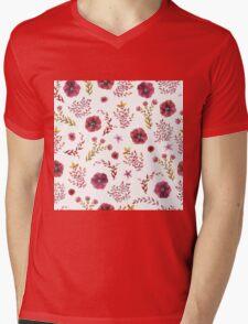 flowers watercolor Mens V-Neck T-Shirt