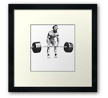 Abraham Lincoln - Gym Humor Framed Print