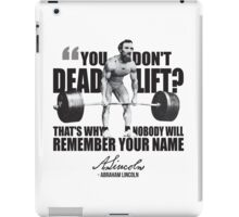 Abraham Lincoln - Gym Humor iPad Case/Skin