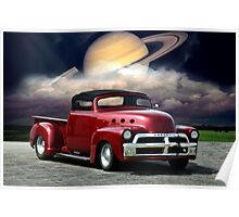 1954 Chevrolet Custom 454 Rag Top Pickup Poster