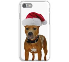 Pit Bull Christmas iPhone Case/Skin