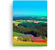 Farmland panorama in summertime Canvas Print