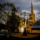 Norwich Cathedral at Night by Shirley Shelton
