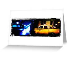 Taxi driver tribute Greeting Card