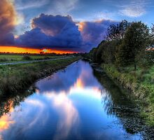 Canal in the dark by Mike Matthews