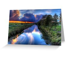 Canal in the dark Greeting Card