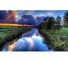 Canal in the dark Photographic Print
