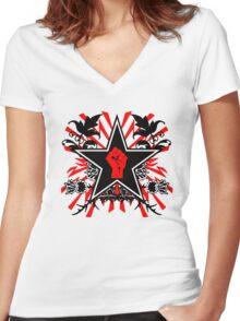 Revolution theme Women's Fitted V-Neck T-Shirt