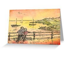 Coast Over the Rail Greeting Card