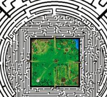 the maze of the maze runner Sticker